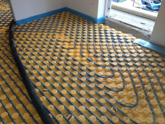 Impianto termico a pavimento